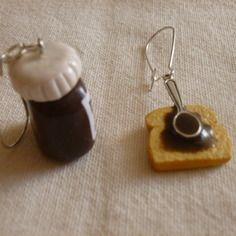Boucles d'oreilles pot de pâte à tartiner-(pour oreilles percées)