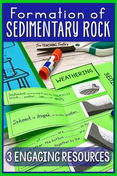 Formation of Sedimentary Rock and Fossil Fuels Activities Bundle Teaching 5th Grade, 5th Grade Science, Science Student, Elementary Science, Teaching Science, Science Education, Teaching Ideas, Science Vocabulary, Science Resources