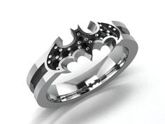 Amazoncom His and Hers 2pcs Tungsten Batman Black Two Tone Ring