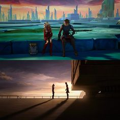Anakin and Ahsoka. The first time, and the last.