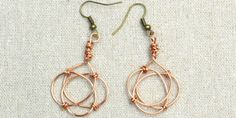 So pretty! How to make copper celtic knot earrings for women from @pandahall. via @tipjunkie