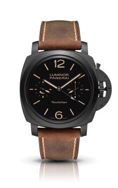 Imaginary wish list item!  Luminor 1950 Tourbillon GMT Ceramica PAM00396 - Collection Tourbillon GMT - Watches Officine Panerai