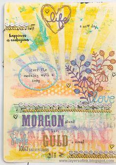 Layers of ink - Pastel Distress Crayon Tutorial by Anna-Karin!
