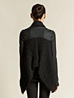 inspiration pour customisation -Rick Owens Women's Wraparound Knitted Cloak
