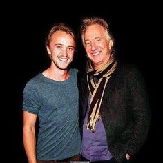 Tom Felton and Alan Rickman. So much attractiveness coming from the right side…