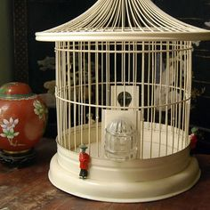 Antique Bird Cages | Vintage Bird Cage with Coolie Clips | Flickr - Photo Sharing!