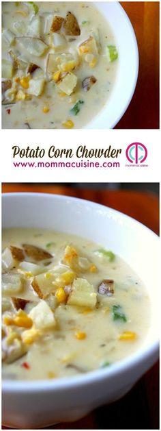 Potato Corn Chowder #idahopotatoes #potatorecipes #chowderrecipes