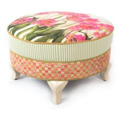 Tulip Ottoman ($2,295) ❤ liked on Polyvore featuring home, furniture, ottomans, floral ottoman, concrete furniture, flower stem, floral furniture and pipe furniture
