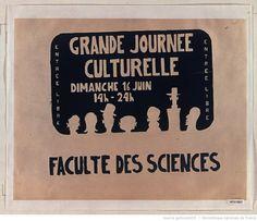 [Mai 1968]. Grande journée culturelle, Dimanche 16 juin 14h-24 h, Faculté des Sciences : [affiche] / [non identifié]