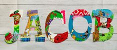 Letter Set, Letter Wall, Cat Birthday, Birthday Cards, Laminate Wall, Painting Wooden Letters, Character Letters, Alphabet Wall, Book Letters