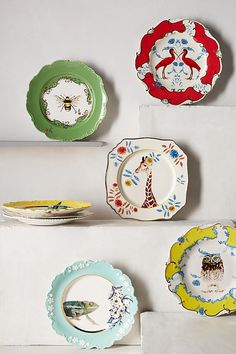 Nature Table Dessert Plate I have some of this artist's teacups....the plates would be nice to have