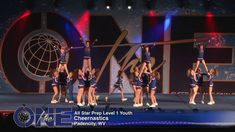 The stunt sequences are amazing, and super creative Cheer Jumps, Cheer Stunts, Cheerleading, Cheer Pyramids, Cheer Routines, Cheer Coaches, All Star Cheer, The One, Gymnastics