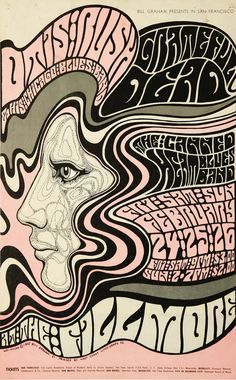 Classic Fillmore Auditorium concert poster from the '60s.