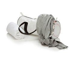 #luftstoff carrierbag tube small mit Barcode | Weiß | 100% Original Airbag Material  Netzfutter  wasserabweisend  handwaschbar  2 Reißverschluss-Innentaschen