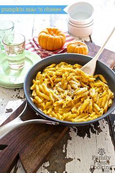 Pumpkin Mac 'n Cheese | Healthy Comfort Food on FamilyFreshCooking.com © MarlaMeridith.com