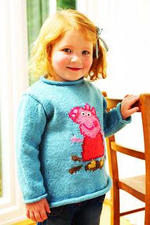 Ravelry: It's Peppa Pig! pattern by Shirley Bradford Owl Knitting Pattern, Knitting Wool, Knitting Charts, Sweater Knitting Patterns, Knitting For Kids, Free Knitting, Baby Knitting, Jumper Patterns, Knit Patterns