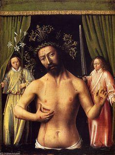 'The Man of Sorrows' by Petrus Christus (1410-1475, Belgium)