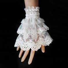 Vintage Solid Color Layered Lace Wedding Accessory