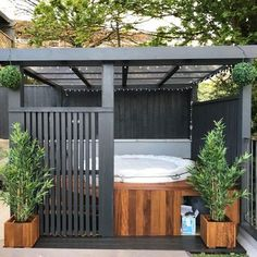 Lay-Z-Spa Hot Tubs (@layzspa) / Twitter Hot Tub Pergola, Hot Tub Backyard, Hot Tub Garden, Steel Pergola, Hot Tub Deck, Outdoor Spa, Outdoor Pergola, Outdoor Living, Backyard Pergola