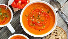 : Endlich eine Suppe, die auch satt macht - dank der schnell sättigenden Ballaststoffe aus der Paprika
