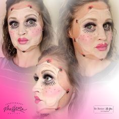 Stretched Doll Face for Halloween ALL done with Maskcara Makeup Maskcara Makeup, Doll Face, Halloween Face Makeup, Photo And Video, Simple, Instagram