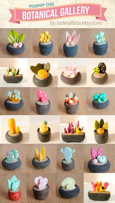 49 Trendy Garden Crafts Diy Kids Clay Pots – Hobbies paining body for kids and adult Polymer Clay Kunst, Polymer Clay Kawaii, Polymer Clay Miniatures, Polymer Clay Projects, Polymer Clay Charms, Polymer Clay Creations, Polymer Resin, Polymer Project, Resin Crafts
