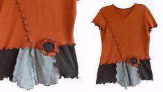 Asymmetrische gekräuselte Sweater Vest L von RebeccasArtCloset