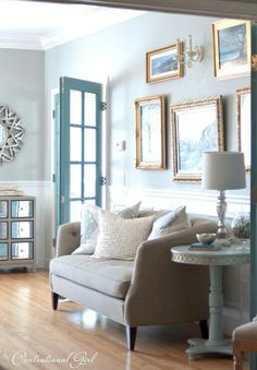 Love the color on these French Doors from Beneath My Heart. net