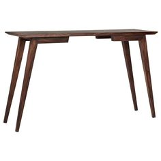 Atelier - Vintage Mod - Wood console table/VIP|Bouclair.com master bedroom as make-up table with chrome MCM chair or a stool
