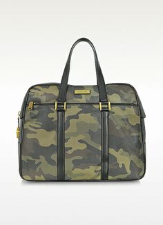 Michael Kors Dunmore Camouflage Leather Weekender