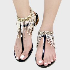 Bohemian Seed Bead Fringe Anklet ~~ Only 1 pair left~ – Lovely Lady Clothing
