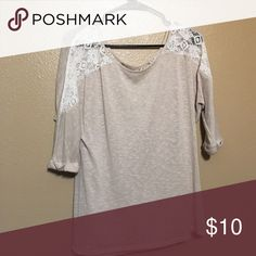 Lace shoulder and back top Great condition. If you have any questions, please ask. I am also open to offers 😁 Tops Blouses