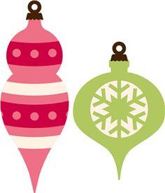 Silhouette Design Store - View Design #23191: 2 vintage christmas ornaments