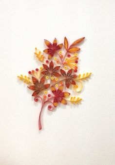 Paper quilling Autumn leaf Materials: color paper strips, glue, deep frame, glass Frame size (mm): 260 x 350x 45 Frame inside (mm): 200 x 290 x 42 Paper