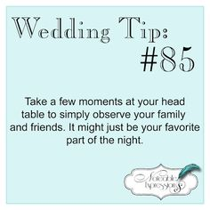 #Wedding Tip: Take a little time to people watch