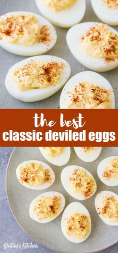 Deviled eggs are a classic appetizer for the holidays Easter and potlucks. This is my best deviled eggs recipe - it's easy to make and healthy! No mayo option plus flavor ideas. You can pipe in the yolk filling for a fancy presentation! Healthy Deviled Eggs, Easter Deviled Eggs, Thanksgiving Deviled Eggs, Devilled Eggs Recipe Best, Avocado Deviled Eggs, Thanksgiving Appetizers, Best Appetizers, Appetizer Recipes, Recipes Dinner