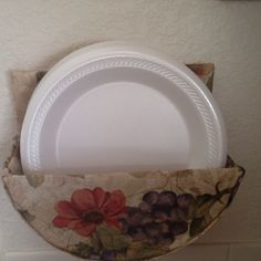 Homemade paper plate holder & Paper Plate Caddy Holder | Plate holder Woods and Kitchens