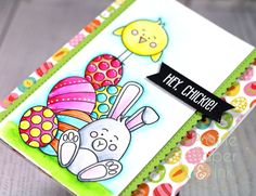 Prairie Paper & Ink: SSS Some Bunny | Zig Clean Color Real Brush Markers | AmyR 2017 Easter Card Series #2