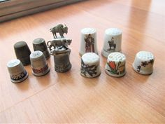 Assorted collectible vintage sewing Thimbles 11 in lot Thimble, Vintage Gifts, Vintage Sewing, My Ebay, Floral Prints, Advertising, Store, Business, Collection