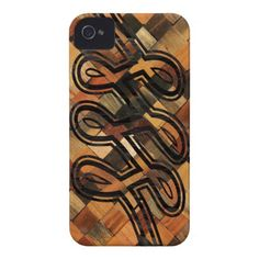 CHECKERED INFINITY LOOP PROTECTIVE I-PHONE CASE iPhone 4 CASE