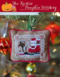 Pen Pals No. 215 - Christmas Eve Delivery PDF Cross Stitch Pattern