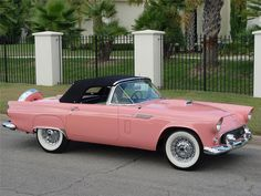 Ford Thunderbird Pictures by Year | Barrett-Jackson Lot #1022 - 1956 FORD THUNDERBIRD CONVERTIBLE