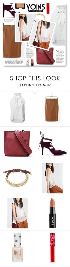 """""""Yoins"""" by tasnime-ben ❤ liked on Polyvore featuring Topshop, Lime Crime, NARS Cosmetics and yoins"""