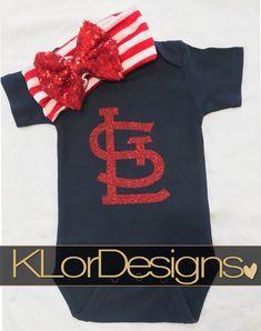 St. Louis onesie  baseball onesie baby girl onesie by KLorDesigns