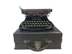 Corona 3 Folding Typewriter Bee Art, Black Square, Fire Department, Brush Cleaner, Ribbon, Keys, Writing, Future, Corona