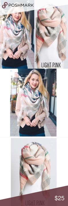 🌸 COMING SOON 🌸 Blanket Scarf Beautiful, Warm and SOFT!!  100% Acrylic Accessories Scarves & Wraps