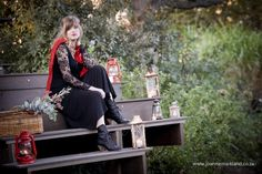Love the black lace and red lip combo ~ Red Riding Hood's Journey Daydream {Storybook Styled Shoot} Red Riding Hood, Stunning Dresses, Daydream, Fairy Tales, Events, Inspired, Halloween, Photography, Inspiration