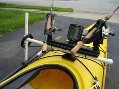 Depth Finder Setup. Depth Finder Setup. Using PVC, get turn that recreational kayak into a fishing kayak. Use the Scotty Triple Rod Holder, 1/2'' pvc pipe, 1/2'' pvc T and zip ties. - PimpMyKayak.com