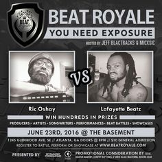 This Thursday Who's Bringing That Fire To BEAT ROYALE:? We have @itspronouncedoshay vs @lafayettebeatz battling it out for the crown of Beat Battle King!! This epic night will be hosted @MICxSIC and @JeffBlactracks doors open to the @Basement at 8:00pm. $10 At The Door.  #beatroyale #atlanta #dynamicproducer #beatbattleking #superproducer #superproducers #musicbusiness #christianhiphop #futureproducer #christianproducer #musicproducerlife Dynamic Forever Dynamic Producer Channel Dynamic Beat…
