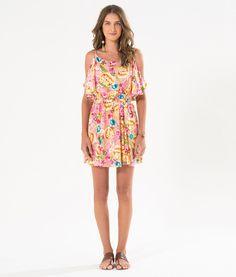 vestido curto floralita